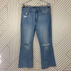 NWOT American Eagle Hi-Rise Kick Crop Jeans